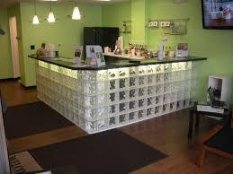custom made glass block bar