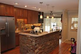 Kitchen Accent Wall Open Kitchen With Cultured Stone Backsplash Accent Wall Cambria