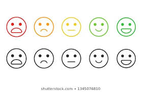Smiley Rating Scale Images Stock Photos Vectors