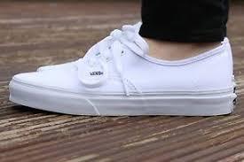vans 4 5. image is loading vans-authentic-true-white-lace-sneakers-mens-shoes- vans 4 5