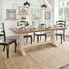 eleanor two tone rectangular solid wood top dining table by inspire q clic on today overstock 13535779