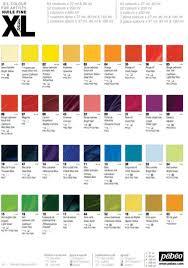 Oil Paint Colour Chart Pebeo 200021 Studio Xl Fine Oil 200mm Raw Sienna
