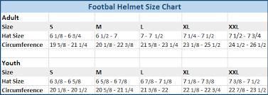 Riddell Girdle Size Chart Football Helmet Size Chart Youth Best Helmet 2017