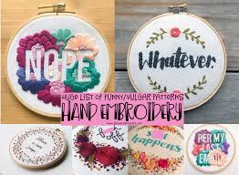 Sew What Embroidery And Designs Funny Embroidery Patterns Vulgar Hand Embroidery Sew