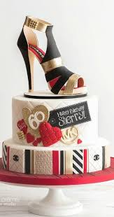 Chanel Sugar Shoe And A Designer Cake To Match Cakes Beautiful