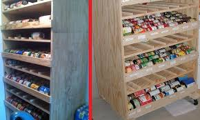 diy can shelf