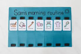 Morning Routine Printable Chart Morning Routine Flip Chart Mama Papa Bubba