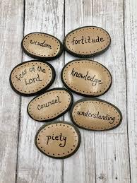 seven gifts of the holy spirit confirmation gift set of 7 catholic holy spirit stones
