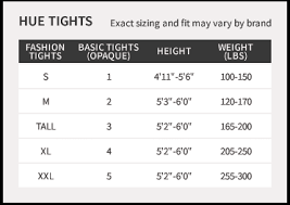 Hue Tights Size Chart Metallic Tights