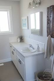 Remodelaholic DIY Bathroom Remodel On A Budget And Thoughts On - Bathroom cabinet remodel