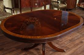 66 Round Dining Table High End Mahogany Dining Table In A Walnut Finish 48 To 66