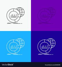 Big Chart Big Chart Data World Infographic Icon Over
