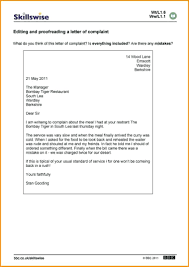 Template Template Letter Of Complaint Mac Resume W Editing And