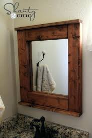 rustic wood mirror frame. Mirror Frames Rustic Picture Frame Ideas Valuable Wood Framed Bathroom  Mirrors Home Remodel Tag Black Cherry Unfinished Vintage Rustic Wood Mirror Frame
