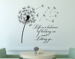 Life Quote Wall Stickers Reclaimed wood wall art Life is a balance of holding on and 86