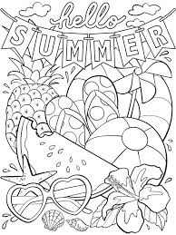 A bird and an apple. Summer Coloring Pages For Kids Print Them All For Free