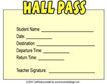 Hallway Pass Template 29 Best Pass Ideas Images Hall Pass Avril Lavigne Back In The Day