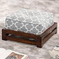 ottoman designs furniture. Raymond Footstool (Walnut Finish, Grey) By Urban Ladder Ottoman Designs Furniture N