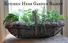 basket herb garden