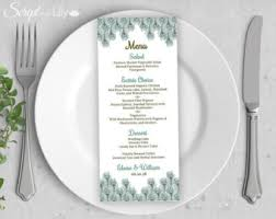 pages menu template christmas menu etsy