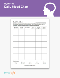 Daily Mood Chart For Bipolar Disorder Daily Mood Chart Worksheet Psychpoint