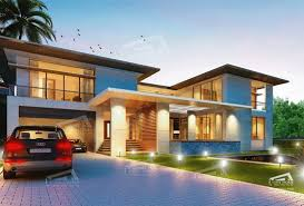 Modern Tropical House Plans  amp  Contemporary Tropical  Modern Style    Modern Style  Living area sq m of the Flange two story house  Bedrooms bathrooms Width meter  Depth meter  This house was designed for suitable
