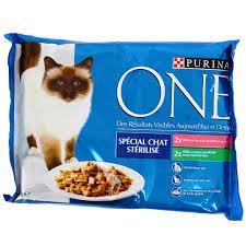 croquettes pour chat stérilisé purina one