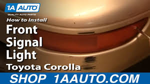 How to Replace <b>Front Turn Signal</b> 93-97 Toyota Corolla - YouTube