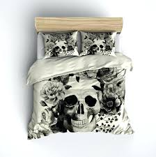 skull duvet cover black and cream watercolor skull bedding cream skull duvet cover uk skull duvet cover
