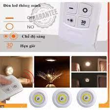 Bộ 3 đèn LED dán/gắn tường nhỏ gọn, kèm 1 điều khiển từ xa, thích hợp cầu  thang, bếp, tủ sách, tủ trang trí, xe hơ tại TP. Hồ Chí Minh