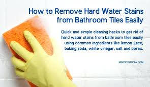 what removes hard water stains easy ways to remove hard water stains from bathroom tiles best