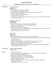 Download Lube Tech Resume Sample as Image file