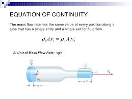 fluid flow rate equation. equation of continuity the mass flow rate fluid equation slideshare
