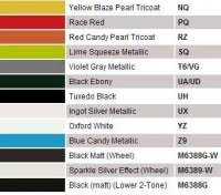 Ford Fiesta Colour Chart 2012 Ford Cars Ford Fiesta