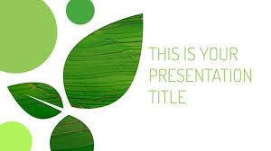 free template designs free green powerpoint template or google slides theme with