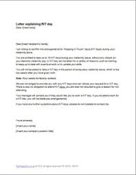 Maternity Leave Kit Days Letter Template Example