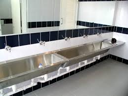 Bathroom Lavatory Sink Stainless Steel Bathroom Sinks For Commercial Areas Home Ideas