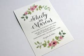 Wedding Invitation Microsoft Word Template Floral Light Whimsical Hand Lettering Calligraphy