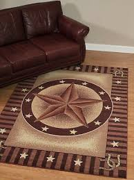 texas star western horseshoe rust red area rug free