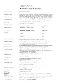 warehouse job resume sample warehouse associate resume sample