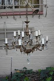 vintage gilt bronze cut glass chandelier