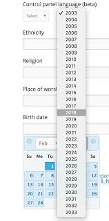 Calendar View For Fields Like Date Of Birth Only Show A 30