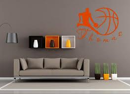 astounding basketball wall decor stickers art hoop typography scoreboard court themed for