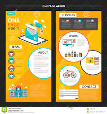 One Page Newsletter Templates Attractive One Page Website Template Design With Newsletter Elem