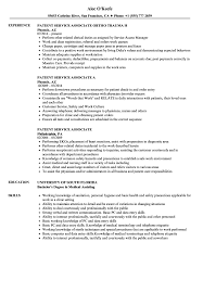 Customer Service Associate Resume Patient Service Associate Resume Samples Velvet Jobs 21