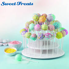 Sweettreats 3 Tier Round White Cake Pop Stand Holds 40 Cake Pops