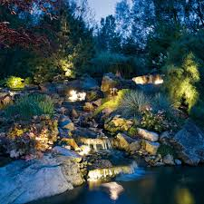 custom landscape lighting ideas. Custom Landscape Lighting - Waterfall And Creek Ideas H