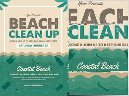 Beach Flyer Beach Clean Up Flyer Template Flyerheroes