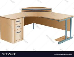 corner office table. Angled Corner Office Desk Vector Image Table