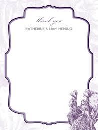Printable Purple Vintage Thank You Card Template